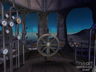 Poster featuring the digital art Inside The Ship by Susanne Baumann