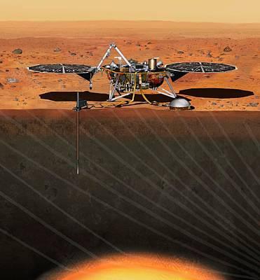 Insight Mars Lander Poster by Nasa/jpl-caltech