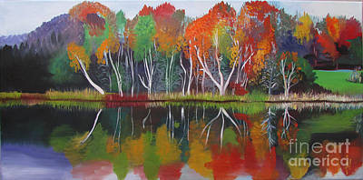 Inspiration Autumn Evening Poster by Art Ina Pavelescu
