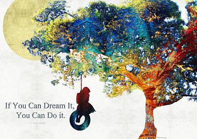 Inspirational Art - You Can Do It - Sharon Cummings Poster by Sharon Cummings