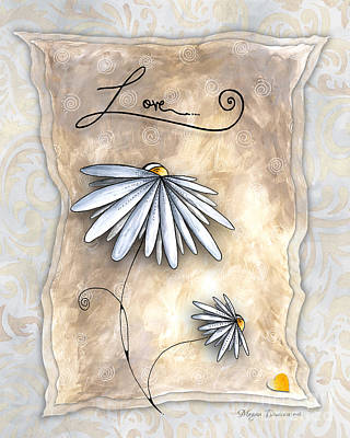 Inspirational Uplifting Daisy Art The Simplicity Of Love By Megan Duncanson Poster by Megan Duncanson