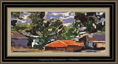 Poster featuring the painting Inspired By Cezanne Ibc2 by Pemaro