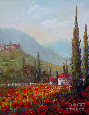 Inspired By Tuscany Poster by Lou Ann Bagnall