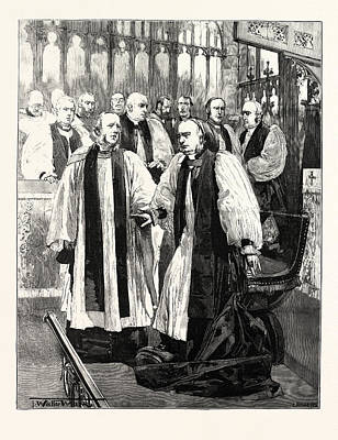 Installation Of The Archbishop Of York In York Minster Poster by English School