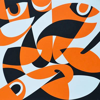 Interdependence Of Existence, 2000 Acrylic On Board Poster