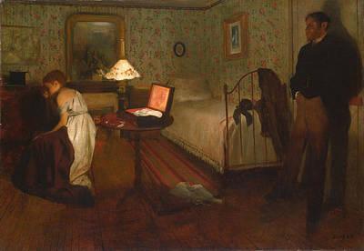 Interior By Edgar Degas Poster by Georgia Fowler