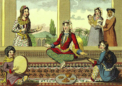 Interior Of A Harem Poster by Litz Collection