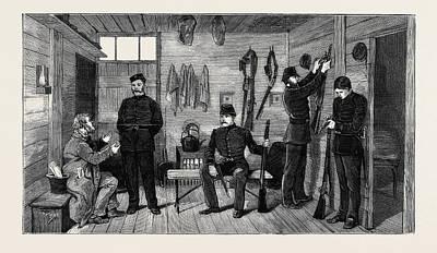 Interior Of A Police Hut At Gurranmore, Pallas Poster