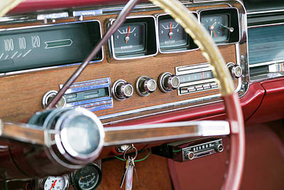 Interior Of An Old Classic Car Poster by Julien Mcroberts