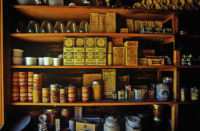 Interior Of General Store With Goods Poster
