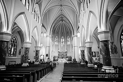 interior of holy rosary cathedral headquarters of the roman catholic archdiocese of Vancouver BC Can Poster by Joe Fox