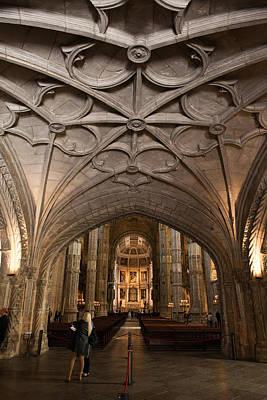 Interior Of Jeronimos Monastery Church In Lisbon Poster by Artur Bogacki