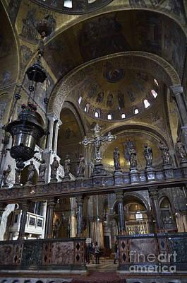 Interior Of San Marco Basilica Poster by Sami Sarkis