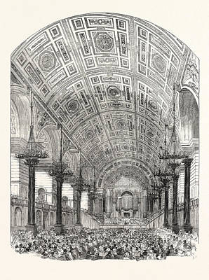 Interior Of St. Georges Hall Liverpool From The South Poster