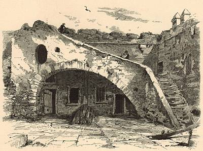 Interior Of St. Mark's Castle 1872 Engraving Poster by Antique Engravings