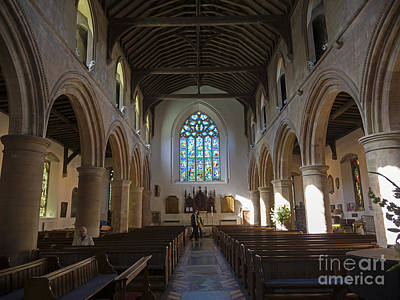 Interior Of St Mary's Church In Rye Poster