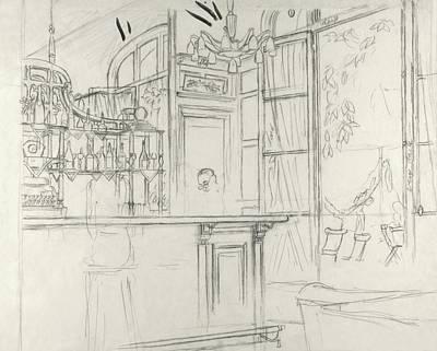 Interior Of The Grand Conde Bar Poster