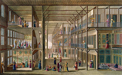 Interior Of The Harem Poster by Anton Ignaz Melling