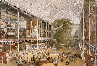 Interior Of The Internation Exhibition Poster by English School
