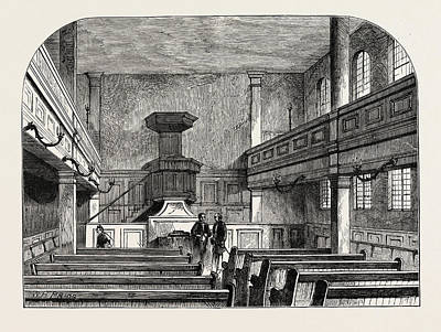 Interior Of The Moravian Chapel In Fetter Lane London Poster by English School