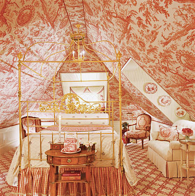Interior Of Vintage Bedroom Poster by Durston Saylor
