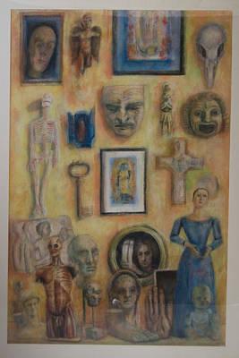 Interior With Exvotos Poster by Paez  Antonio