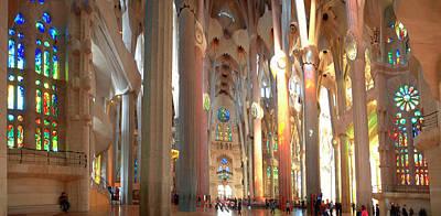 Interiors Of La Sagrada Familia Poster by Panoramic Images