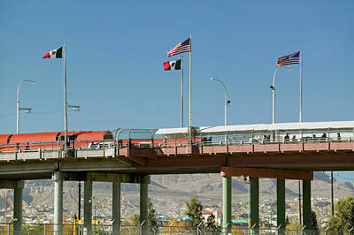 International Border Of Mexico & Poster