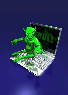 Internet Troll Poster by Victor Habbick Visions