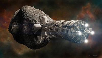 Poster featuring the digital art Interstellar Colony Maker by Bryan Versteeg