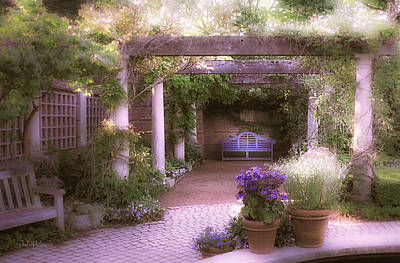 Intimate English Garden Poster by Julie Palencia