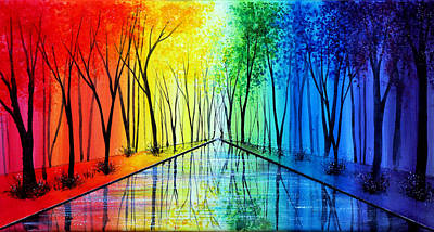 Into The Rainbow Poster by Ann Marie Bone