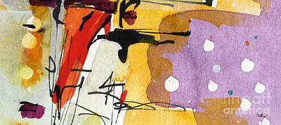 Intuitive Abstract Venice Watercolor And Ink Poster
