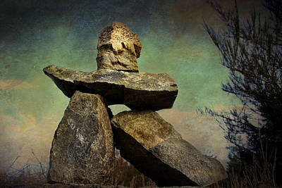 Poster featuring the photograph Inukshuk I by Peggy Collins
