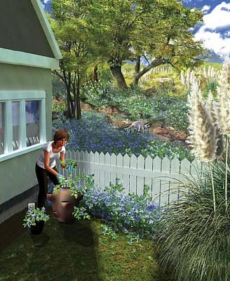 Invasive Garden Plants Poster by Nicolle R. Fuller