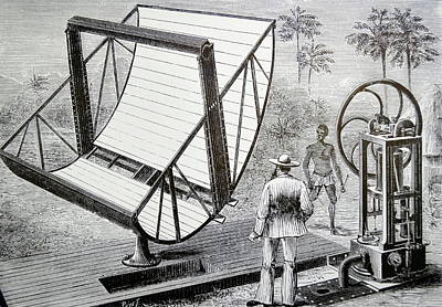 Inventor John Ericsson's Machine Poster by Universal History Archive/uig