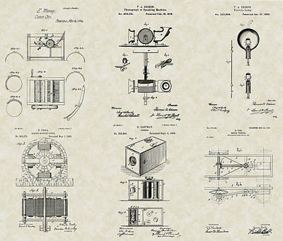 Inventors Patent Collection Poster by PatentsAsArt