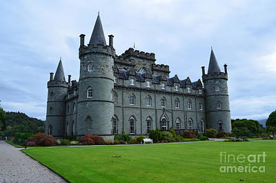 Inveraray Castle In Argyll Poster by DejaVu Designs