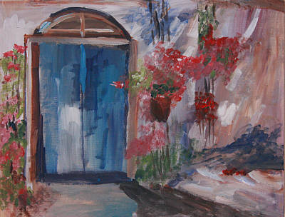 Inviting Doorway Poster