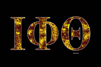 Poster featuring the digital art Iota Phi Theta - Black by Stephen Younts