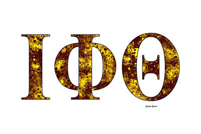 Poster featuring the digital art Iota Phi Theta - White by Stephen Younts
