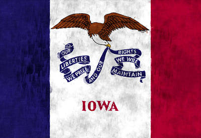 Iowa Flag Poster by World Art Prints And Designs