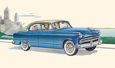 iPhone - Galaxy Case - 1953 Dodge Coronet antique car - nostagic americana Poster