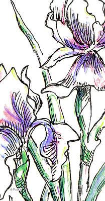 iPhone-Case-Flowers-Iris2 Poster by Gordon Punt