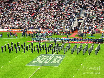 Poster featuring the photograph Ireland Vs France by Suzanne Oesterling