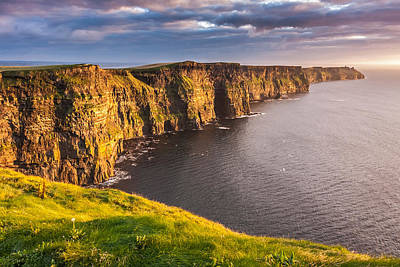 Ireland's Iconic Landmark The Cliffs Of Moher Poster