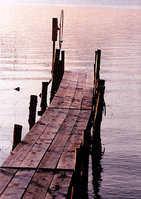 Poster featuring the photograph Irene's Dock by Susan Crossman Buscho