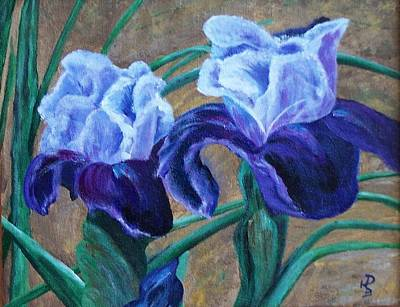 Poster featuring the painting Iris by Debbie Baker