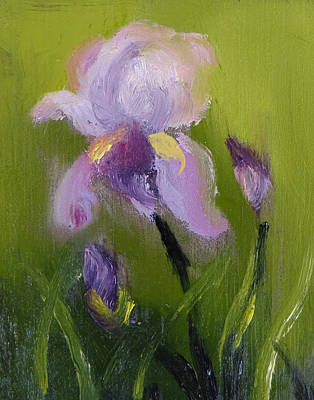 Iris Miniature Poster by Carol Berning