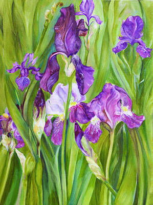 Poster featuring the painting Iris by Nadine Dennis